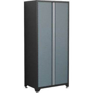 "Pro Series 82.5"" H x 36"" W x 24"" D Locker Cabinet Color Gray with Black Trim   Storage Lockers"