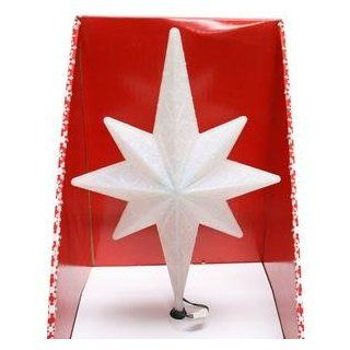 "Brite Star 42560   12"" LED White Battery Operated Rotating Bethlehem Star Christmas Tree Topper with Timer"