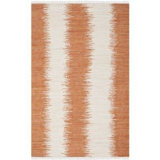Safavieh MTK751C Montauk Collection Hand Woven Cotton Area Rug, 4 Feet by 6 Feet, Orange   Handmade Rugs