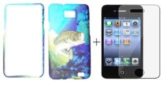 Samsung Galaxy s2 / sii sgh i777 Bass Fishing Fish case cover ( FREE Anti Glare Screen Protector ) Cell Phones & Accessories