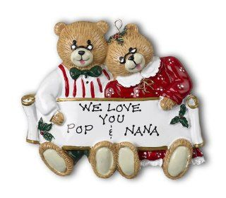 Grandma and Grandpa Personalized Christmas Ornament   Decorative Hanging Ornaments