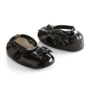 Carter's Infant Black Bow Mary Jane Crib Shoes, Newborn Baby