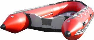 Saturn 14 ft Red Inflatable Boat  Open Water Inflatable Rafts  Sports & Outdoors
