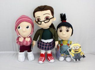 Official 2013 Despicable Me 2 Complete Orphan Set Agnes Edith Margo Mini Plush Doll Toy Toys & Games