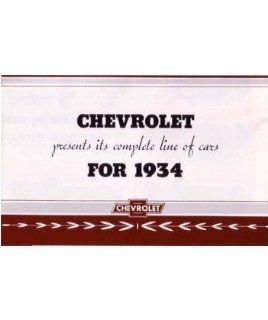 1934 Chevrolet Sales Brochure Literature Advertisement Options Colors Specs Automotive