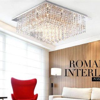 Stainless steel Square Top Crystal Glass Sticks Hanging Ceiling Light Luxury Parlor Crystal Dining Room Ceiling Lamp Living Room Lounge Ceiling Lights   Ceiling Pendant Fixtures