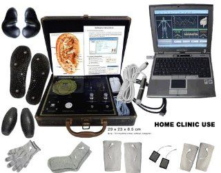 Whole Health Analysis Detect and Treat Electroacupuncture Computer Medicomat29+E Silver Conductive Elbow Knee Gloves Socks Pads and Conductive Auricle Hand Foot Electrodes Treatment for Relief of Arthritis Tendonitis Carpal Tunnel Syndrome Post Operative P