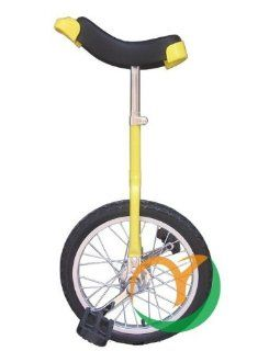1pcs/lot Size18 inch steel wheels unicycle one wheel bike Suitable height 1.35 1.65m(yellow)  Unicycle Kids  Sports & Outdoors