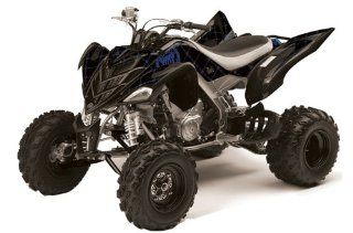 Silver Star AMR Racing Yamaha Raptor 700 ATV Quad Graphic Kit   Reloaded Bla Automotive