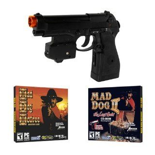 EMS Top Gun 3 Mad Dog McCree PC Game Pack   Wireless Light Gun for PC, MAME, PS2, PS3, and XBOX on ANY Display Including CRT, LCD, Plasma, HD TVs and Projectors Computers & Accessories