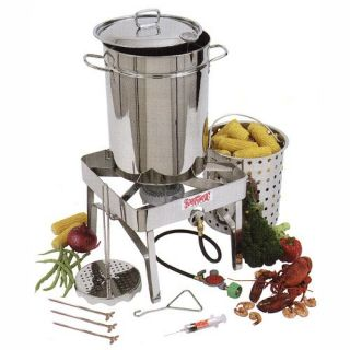 Bayou Classic 32 Quart Stainless Steel Turkey Fryer Kit   Turkey Fryers