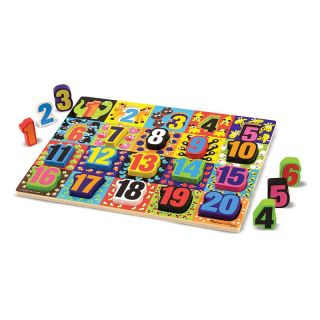 Melissa and Doug Jumbo Chunky Puzzle Set   Numbers and Alphabet   Learning Aids
