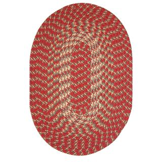 Robin Rug Hometown Braided Rug   Colonial Red   Braided Rugs