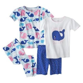 Just One You Made by Carters Infant Toddler Girls 4 Piece Short Sleeve Whale