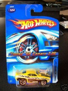 2006 Hot Wheels #124 Tooned 69 Camaro Yellow Variant  164 Scale Collectible Die Cast Car Toys & Games