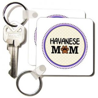 kc_151757_1 InspirationzStore Pet designs   Havanese Dog Mom   Doggie mama by breed   paw print mum love   doggy lover proud pet owner circle   Key Chains   set of 2 Key Chains Clothing