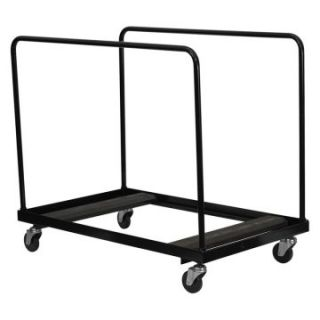 Folding Table Dolly for Round Folding Tables   Black   Table & Chair Carts
