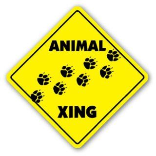 ANIMAL CROSSING Sign xing gift novelty love zoo cat dog bird fish all any  Street Signs  Patio, Lawn & Garden