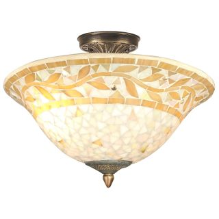 Dale Tiffany Mosaic Semi Flush Mount Light   Tiffany Ceiling Lighting