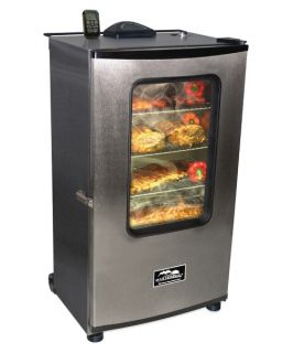 Masterbuilt Electric 40 in. Stainless Steel Digital Electric Smoker with Window and Remote   BBQ Smokers