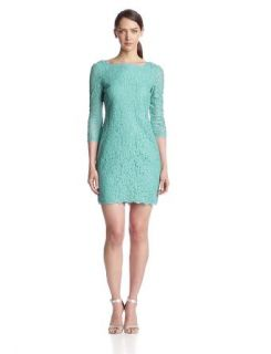 Adrianna Papell Women's Women's Long Sleeve Lace Dress