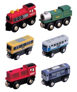 Maxim 6 Piece Wooden Train Car Combo Set   Playsets