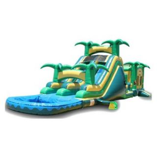 EZ Inflatables Tropical Theme Combo Bounce House   Commercial Inflatables