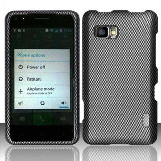 LG Cayenne / Mach LS860 Case (Sprint / Boost Mobile) Classy Carbon Fiber Design Hard Cover Protector with Free Car Charger + Gift Box By Tech Accessories Cell Phones & Accessories