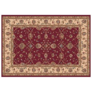 Dynamic Rugs Radiance Collection 47 x 24 Hearth Rug Red Cyrene   Hearth Rugs
