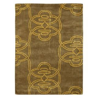 nuLOOM Tribal SEMA34A 508 Area Rug   Gold   Area Rugs