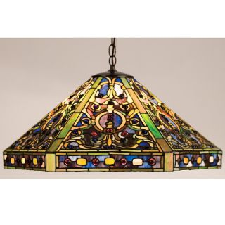 Meyda Tiffany Elizabethan Pendant Light   25W in. Bronze   Tiffany Ceiling Lighting