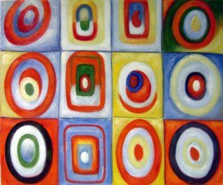 Wassily Kandinsky Circles Reproduction Abstract Art   Oil Paintings