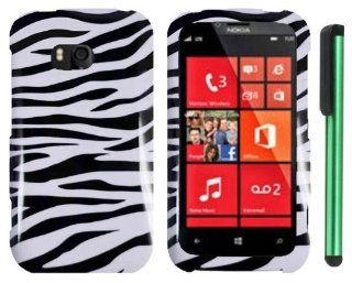"Black White Zebra Premium Design Protector Hard Cover Case Compatible for NOKIA LUMIA 822 (VERIZON) Windows Phone + Combination 1 of New Metal Stylus Touch Screen Pen (4"" Height, Random Color  Black, Silver, Hot Pink, Green, Light Green, Red, Blue, Li"