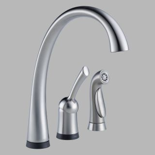Delta Pilar 4380T DST Single Handle Kitchen Faucet with Side Spray and Touch2O Technology   Kitchen Faucets