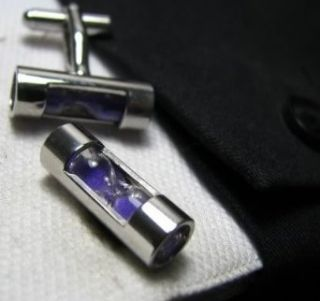 Purple Sand Working Hour Glass Cufflinks Cuff Links Clothing