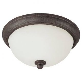 Sea Gull Lighting 75026 799 2 Light Pemberton Close to Ceiling Fixture, Etched Opal Glass and Peppercorn   Flush Mount Ceiling Light Fixtures