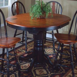 Sunset Trading Oval Cafe Counter Height Table with Butterfly Leaf   Dining Tables