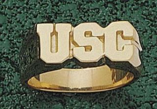 "South Carolina Gamecocks ""USC"" Men's Ring Size 10   10KT Gold Jewelry Clothing"