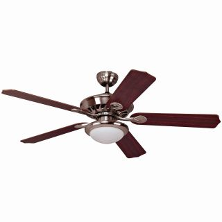 Yosemite Home Decor LINDSEY BS Lindsey 52 in. Indoor Ceiling Fan   Brushed Steel   Ceiling Fans