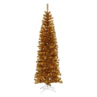 Vickerman Antique Gold Pencil Christmas Tree   Christmas Trees