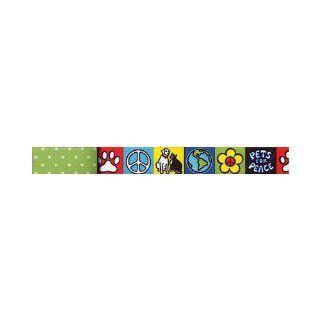 Yellow Dog Design Uptown Lead, 3/4 Inch, Pets for Peace on Green Polka  Pet Leashes