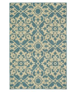 Loloi Augusta Indoor / Outdoor Area Rug   Blue / Ivory   Area Rugs