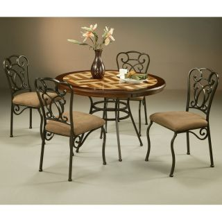 Pastel Wilton 5 piece Travertine Inset Top Dining Table Set   Dining Table Sets