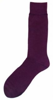 Dark Purple Solid Color Mens Dress Sock   Vannucci at  Men's Clothing store