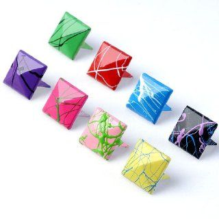 Colorful Square Pyramid Spike Studs Punk Rock Shoes Clothes Leather Craft DIY