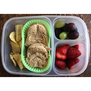 "Easylunchboxes 3 Compartment Bento Lunch Box Containers ""Classic"" (Set Of 4). Bpa Free. Easy Open Lids (Not Leakproof) Kitchen & Dining"