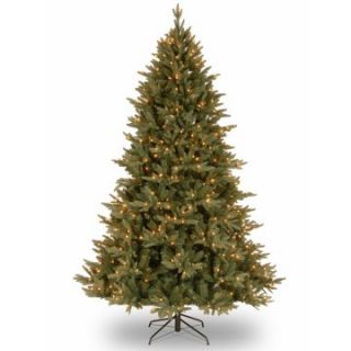 7.5 ft. Feel Real Chester Ridge Blue Hinged Pre Lit Christmas Tree   Clear Lights   Christmas Trees