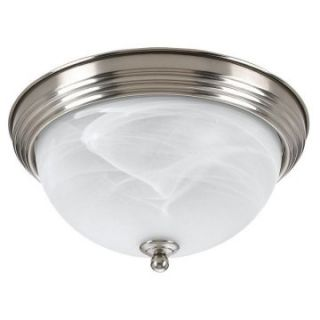 Sea Gull Bathroom Ceiling Light   14.5W in. Brushed Nickel   Ceiling Lighting