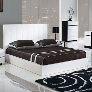 Trinity Platform Bed   White   Beds