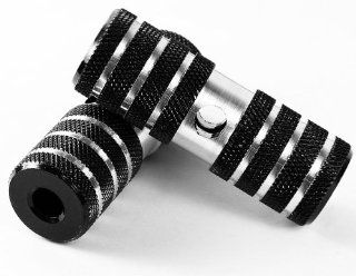 Universal Black & Chrome Bike Bicycle Pegs Bmx Cycling Accessories Parts Light Weight Alloy  Sports & Outdoors